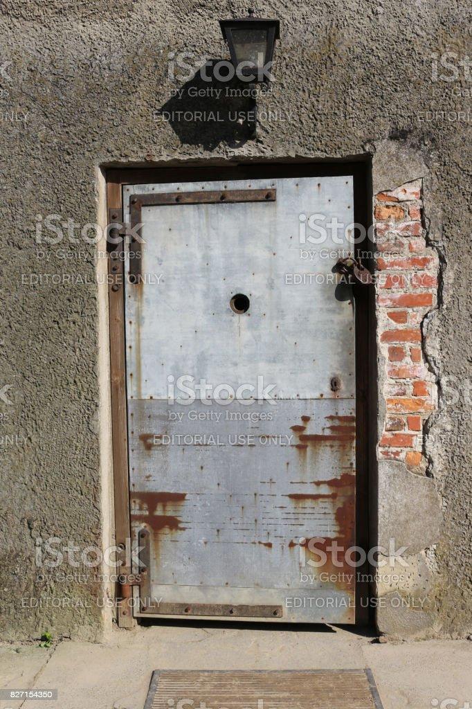 Porte Dune Chambre à Gaz Et Four Crématoire Au Camp De Concentration ...