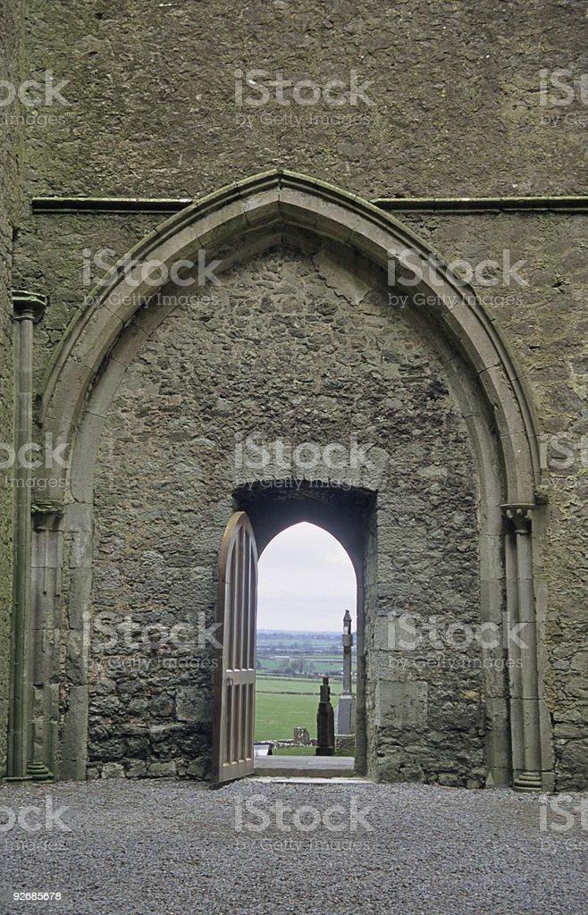 Door to Cemetary royalty-free stock photo