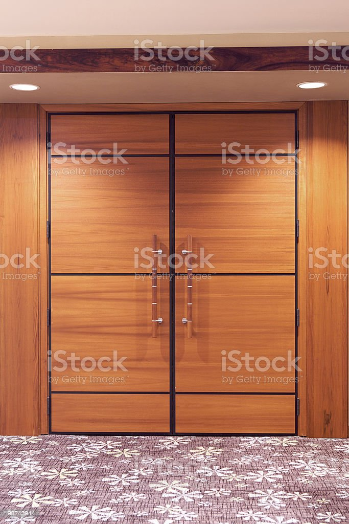 Door to conference meeting room royalty-free stock photo