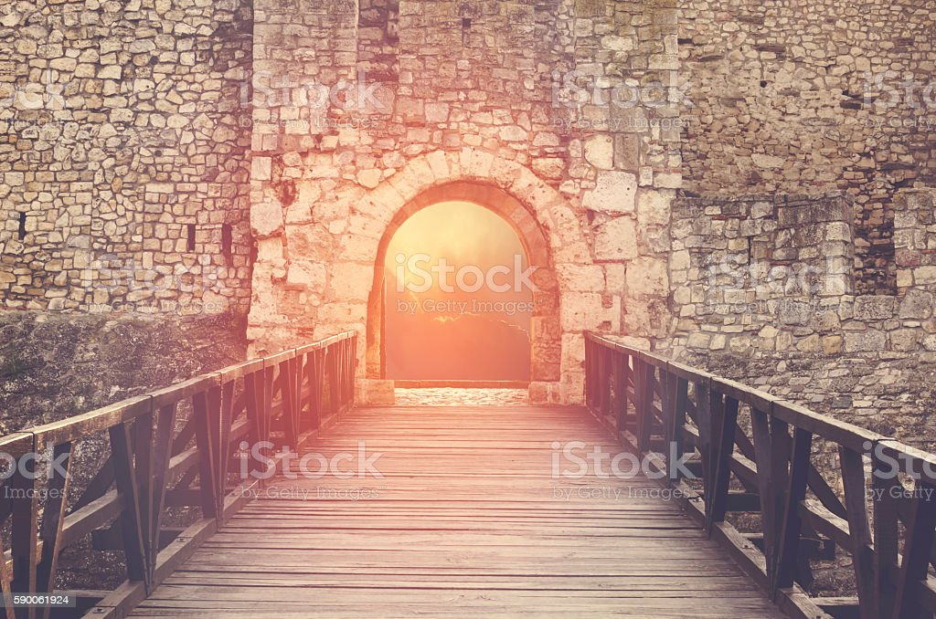 Door to Heaven. Hope metaphor. stock photo