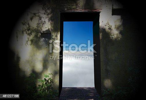 istock door to heaven 481227188
