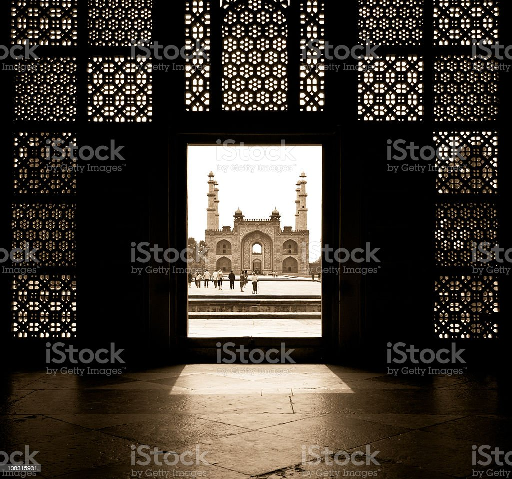 Door to India stock photo