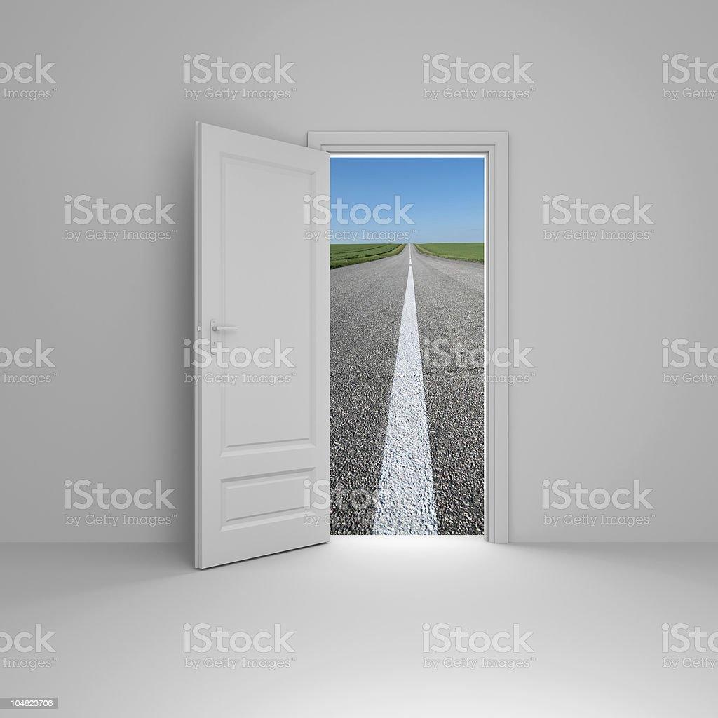 Door to new way royalty-free stock photo