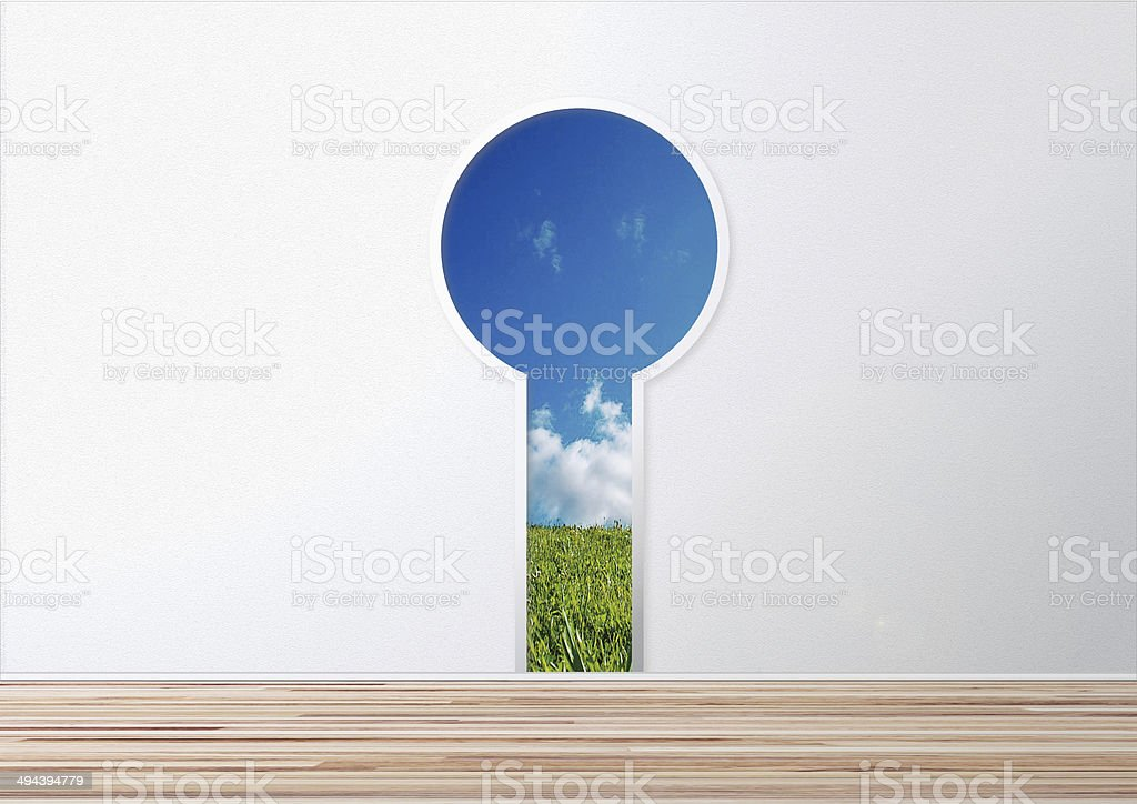 Door to new world 新世界 成功 扉 stock photo