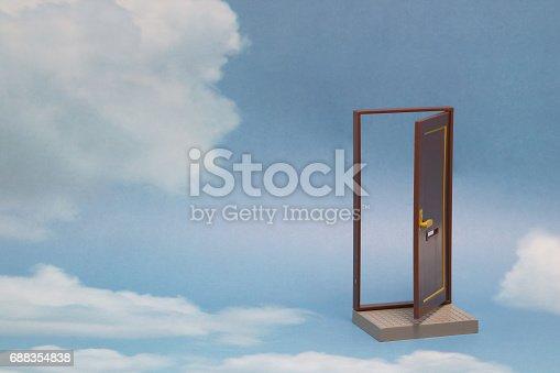 istock Door to new world. 688354838