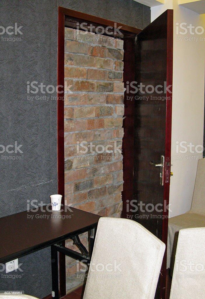 Door to Nowhere stock photo