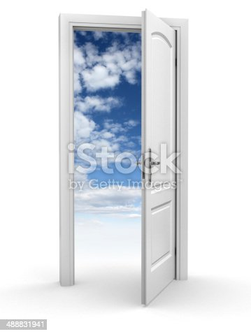 507793335 istock photo door to sky - freedom abstract concept 488831941