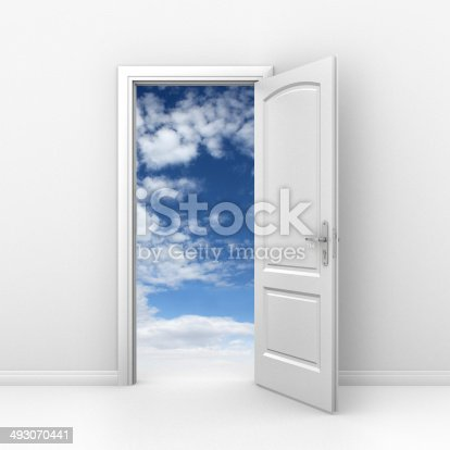 507793335 istock photo door to sky - freedom abstract concept 493070441