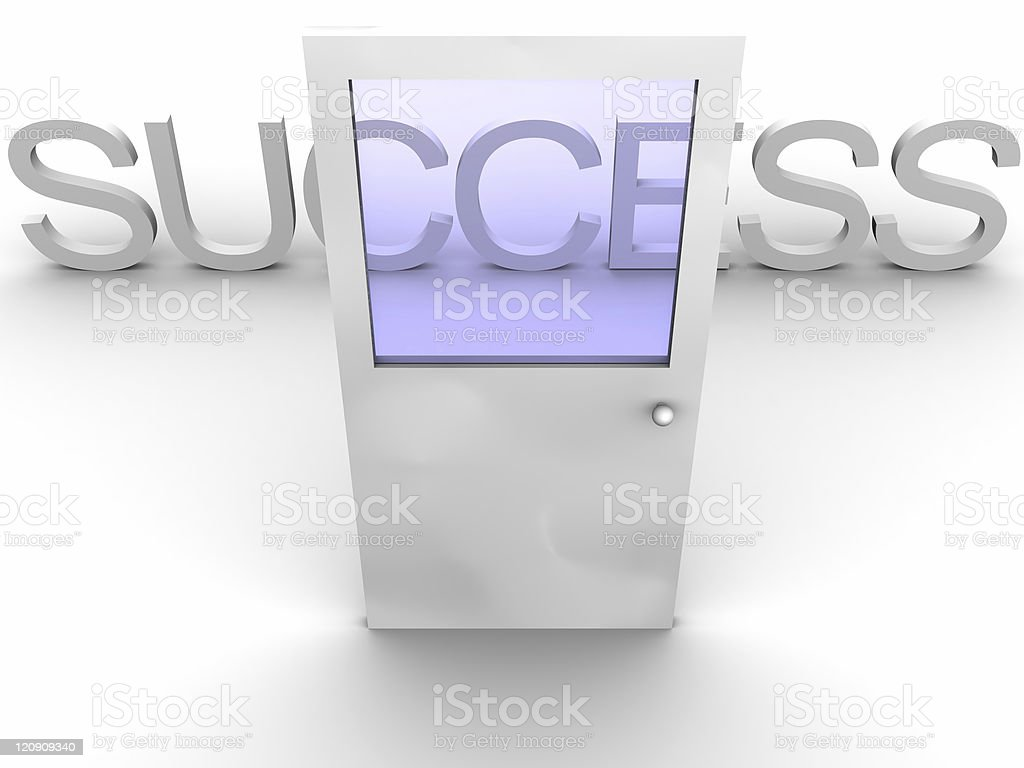 Door to Success royalty-free stock photo