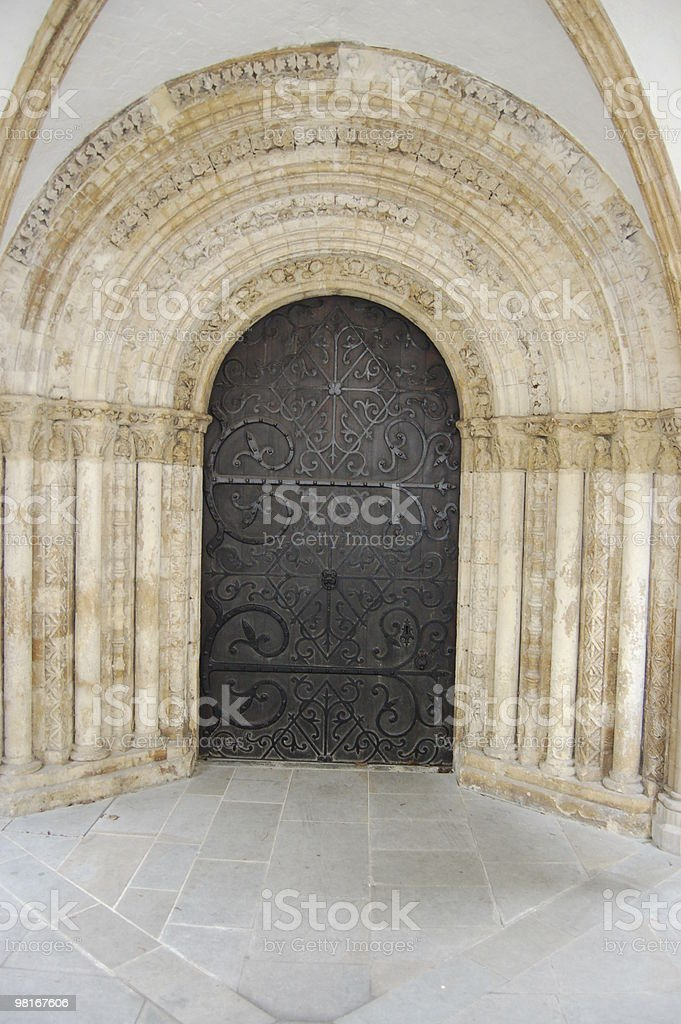 Door to Temple Church, City of London royalty-free stock photo