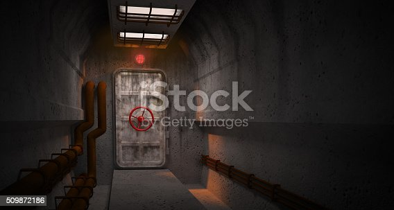 interior with door to the fallout shelter