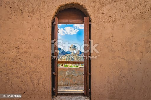 istock Door to the landmark. 1012318666