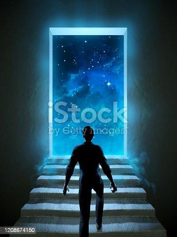 istock Door to universe 1208674150