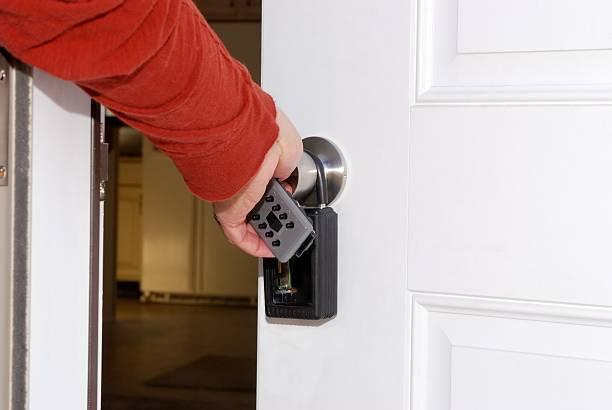 door to your new home stock photo