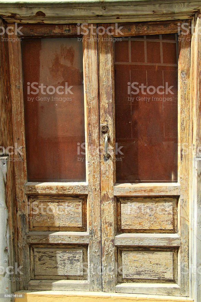 Door which is to be painted require stock photo