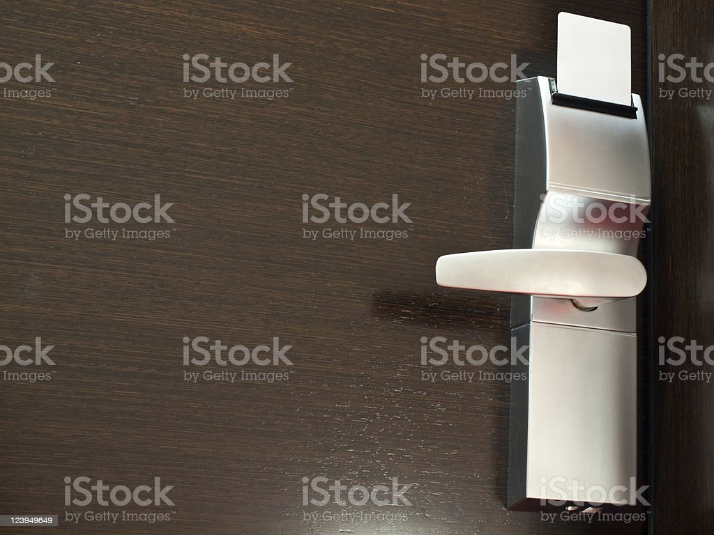 Door with cardkey royalty-free stock photo