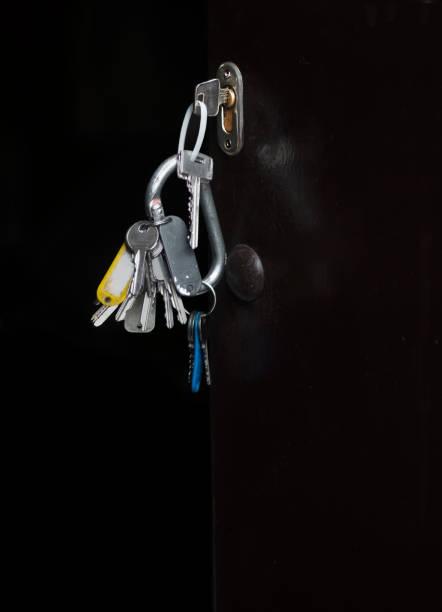 Tür mit Schlüssel im Schloss – Foto