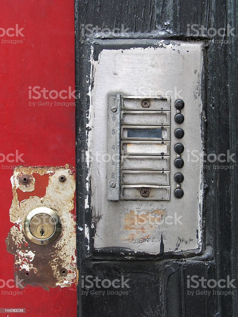 Doorbell and Lock royalty-free stock photo