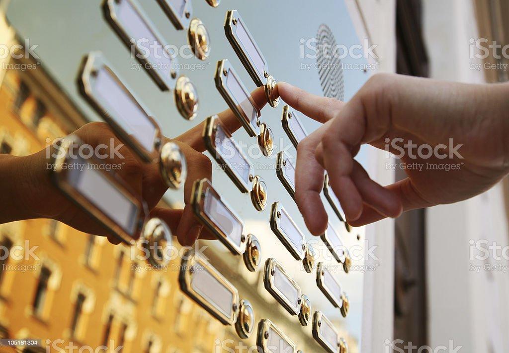 doorbells stock photo