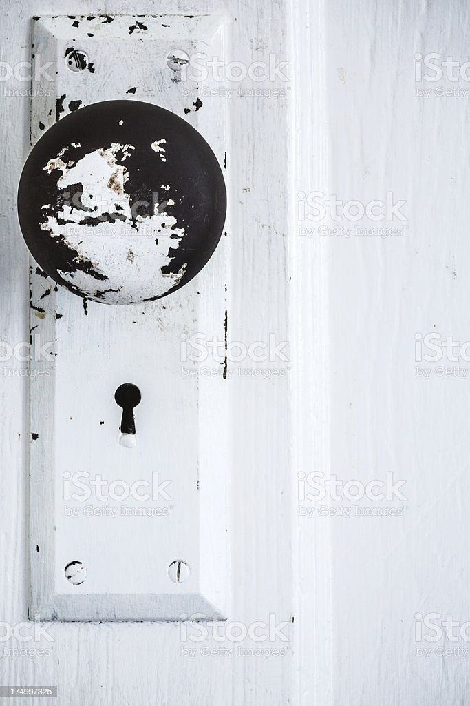 Doorknob and Rustic Keyhole royalty-free stock photo