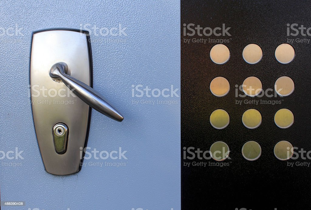 doorknob bulletproof doors stock photo