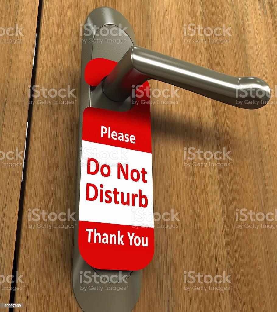 Doorknob / Do Not Disturb royalty-free stock photo