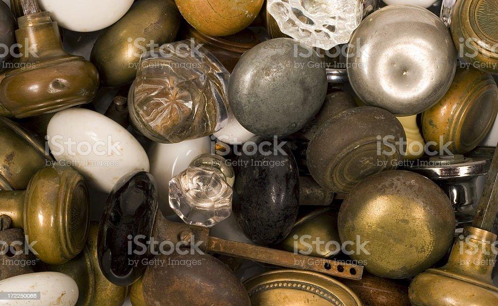 doorknobs stock photo