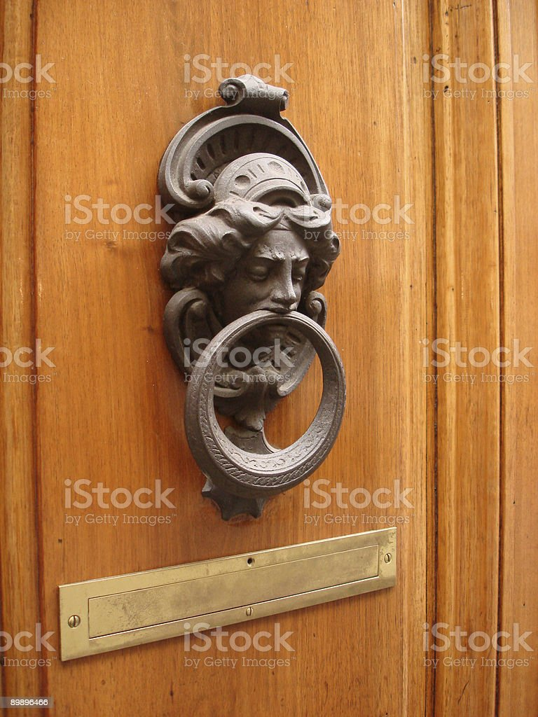Doorknocker - Italy royalty-free stock photo