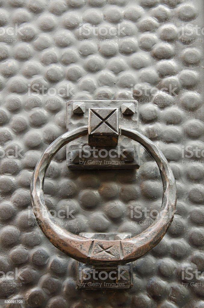 Doorknocker stock photo