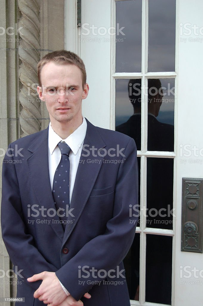 Doorman royalty-free stock photo