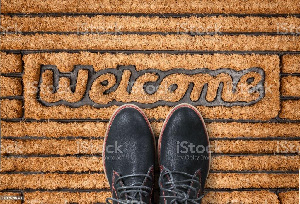 Doormat. stock photo