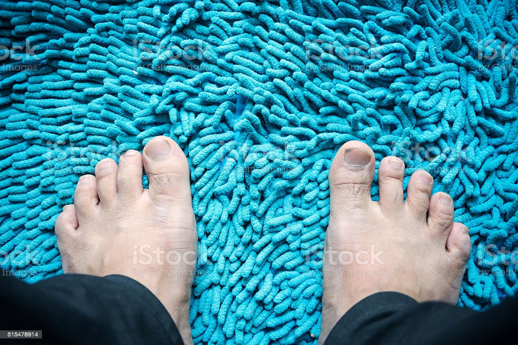 Doormats with soft light stock photo