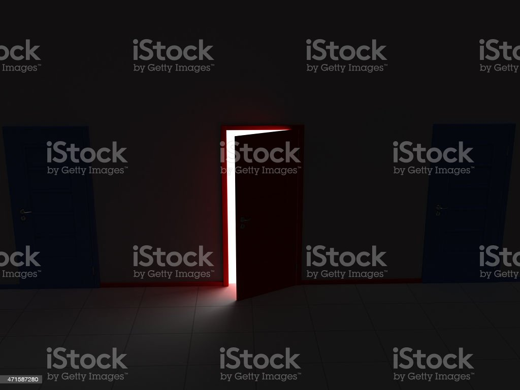 Doors and Making a Choise stock photo