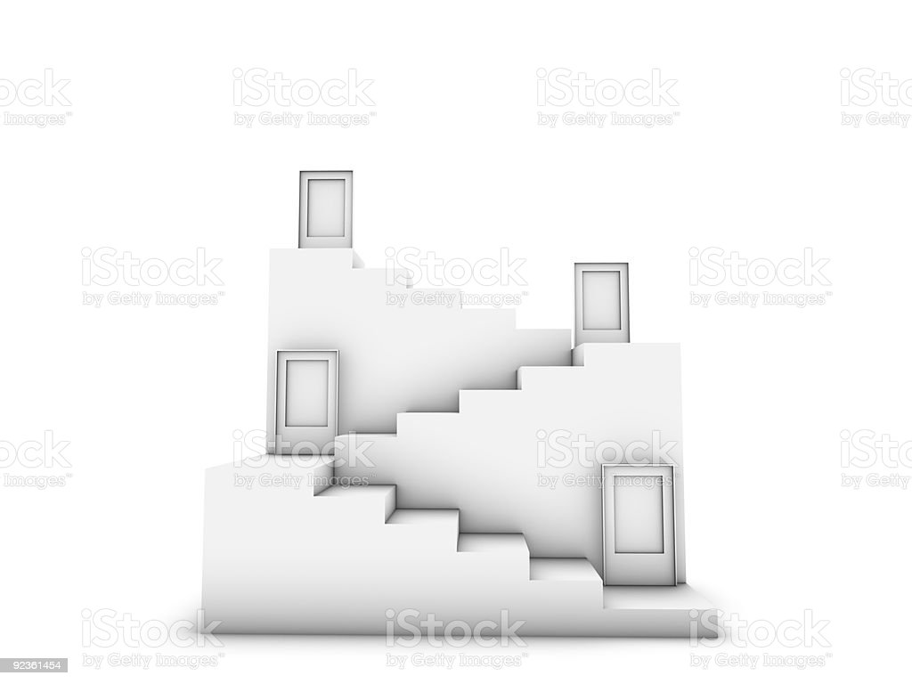 Türen und Treppe Lizenzfreies stock-foto