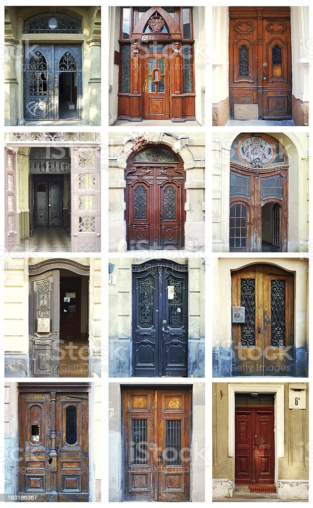 Doors From Around The World royalty-free stock photo