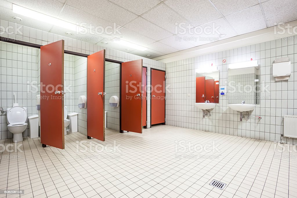 Doors From Toilets And Sinks Stock Photo & More Pictures of Bathroom ...