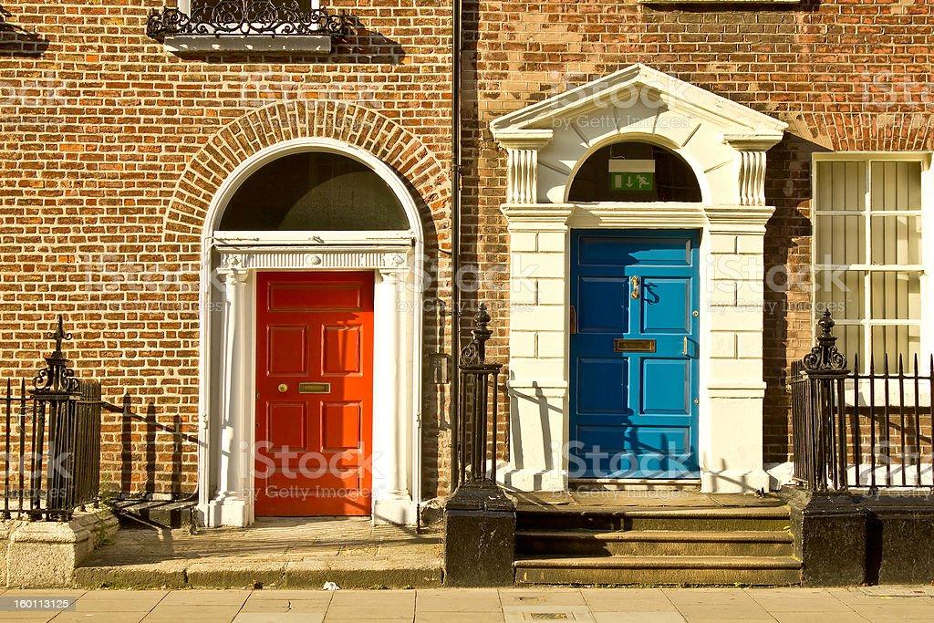 Doors in Dublin, Ireland royalty-free stock photo