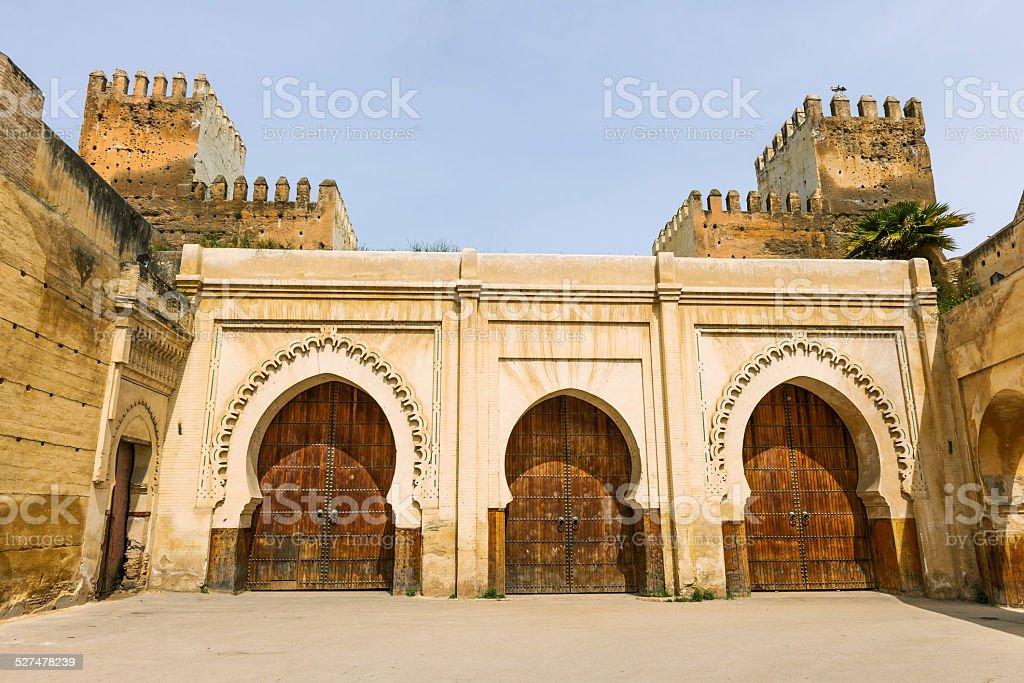 Doors in Medina, Fez-Bulman, Morocco North Africa stock photo