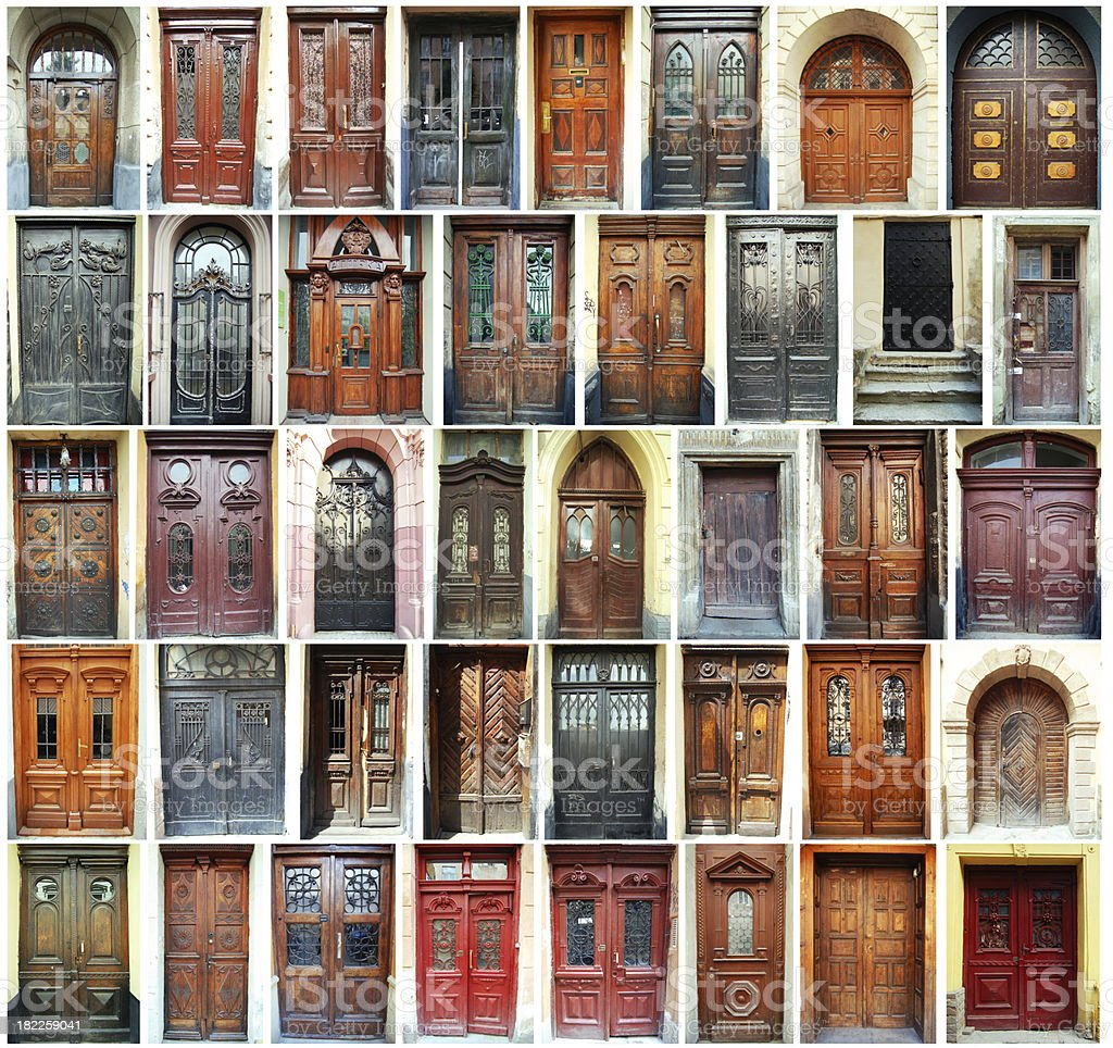 Doors - Lviv, Ukraine stock photo