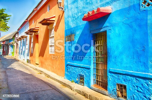 The ornate and historic doors of Cartagena's colorful old city streets.