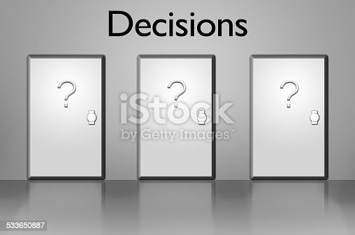 82186105 istock photo Doors of Decisions 533650887