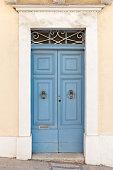 old wooden door in tarnovo city , bulgaria