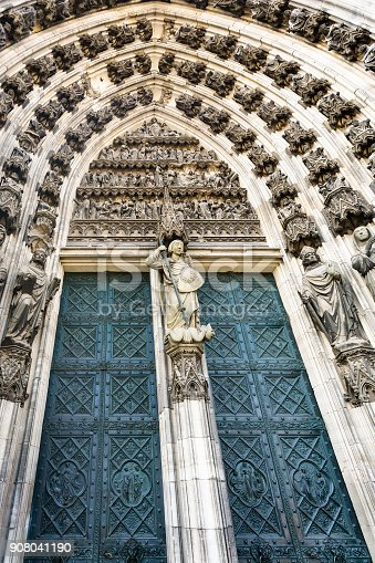travel to Germany - doors of North Entrance to Cologne Cathedral