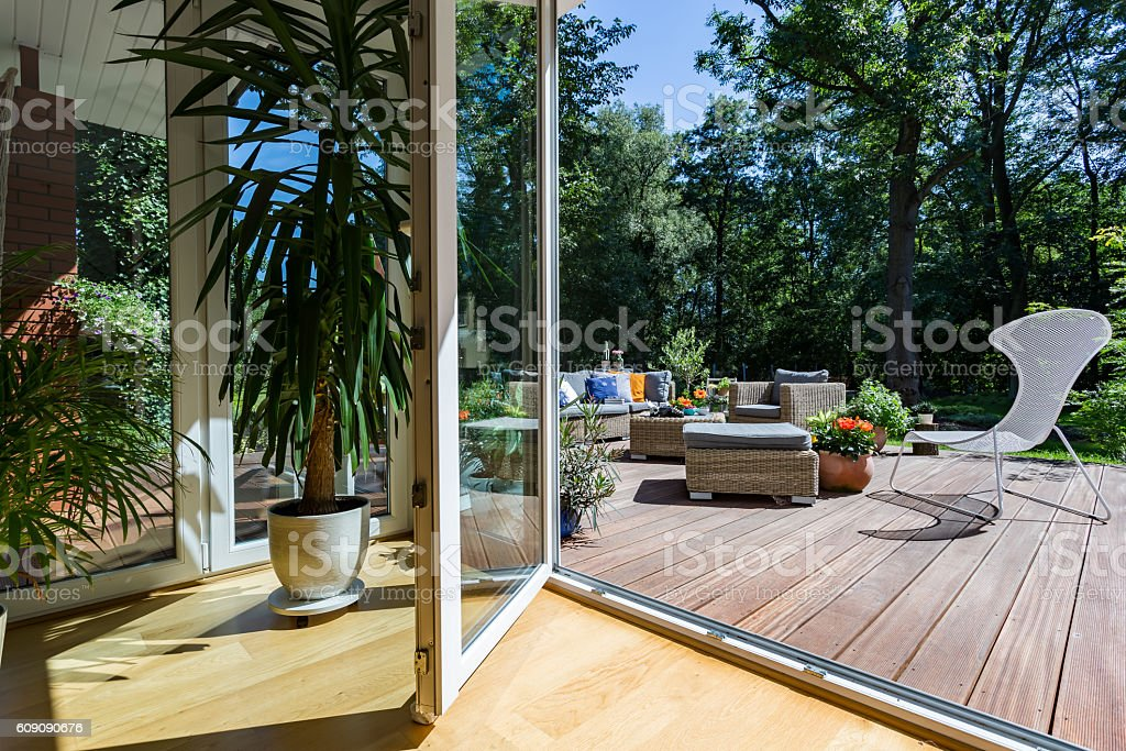 Doors open to relax royalty-free stock photo