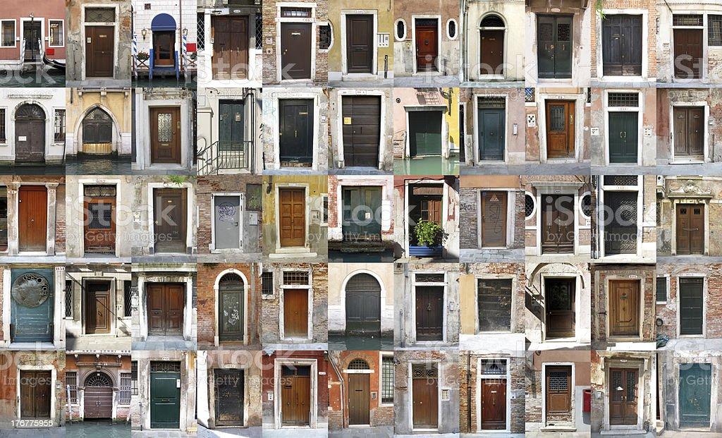 Doors - Venice, Italy stock photo