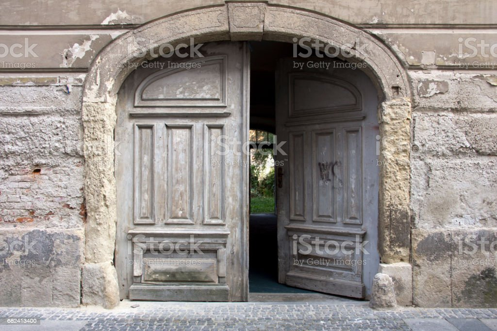 Doors with arch royalty-free stock photo