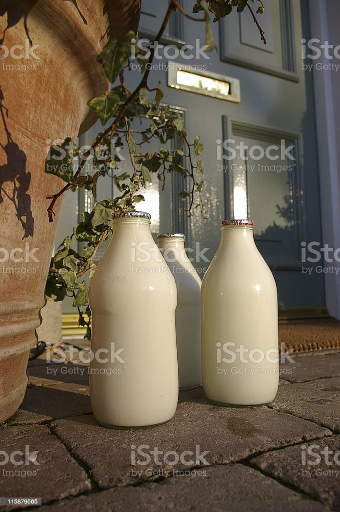 Doorstep delivery royalty-free stock photo