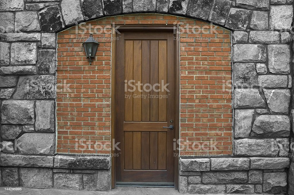 Doorway in granite stock photo