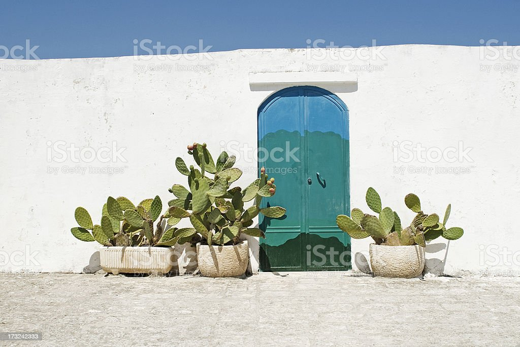 Doorway in Ostuni, Puglia Italy stock photo