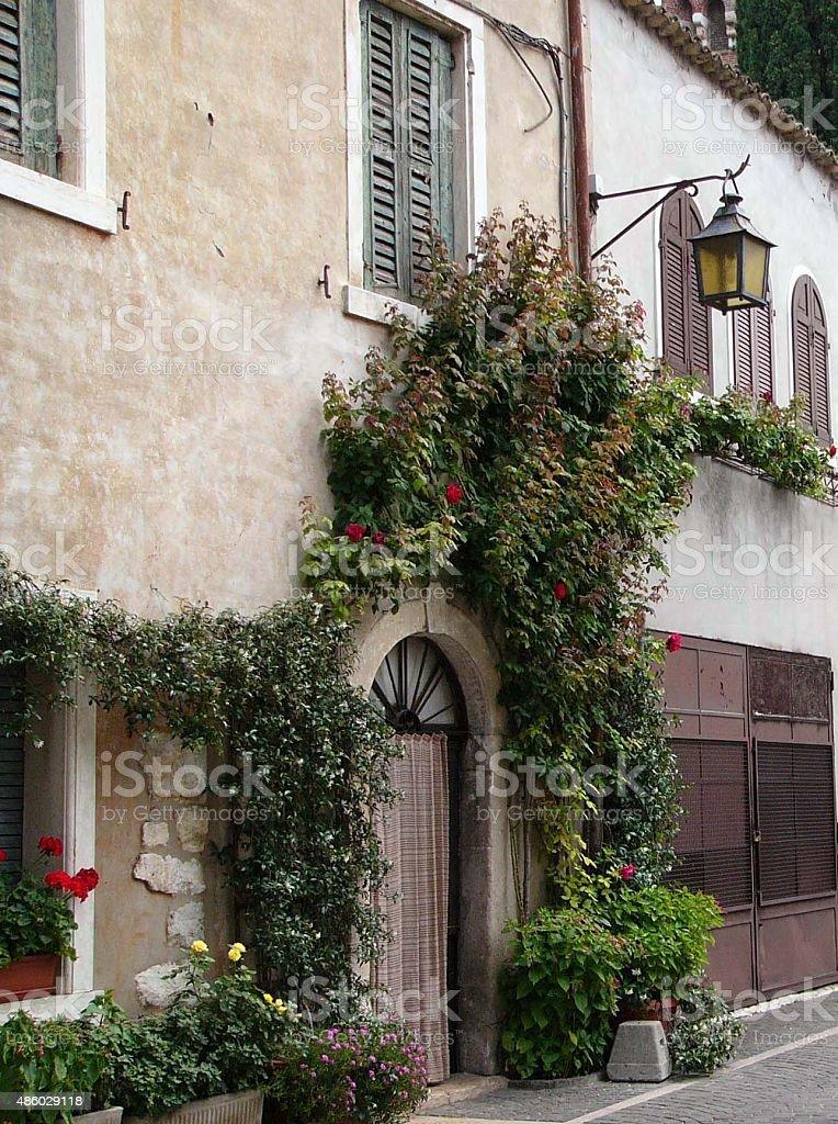 Doorway in Verona Italy stock photo